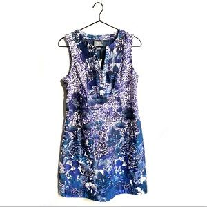 Anthropologie Maeve blue floral mini dress size 2
